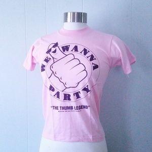 Vintage Unworn T-shirt We Wanna Party NOS
